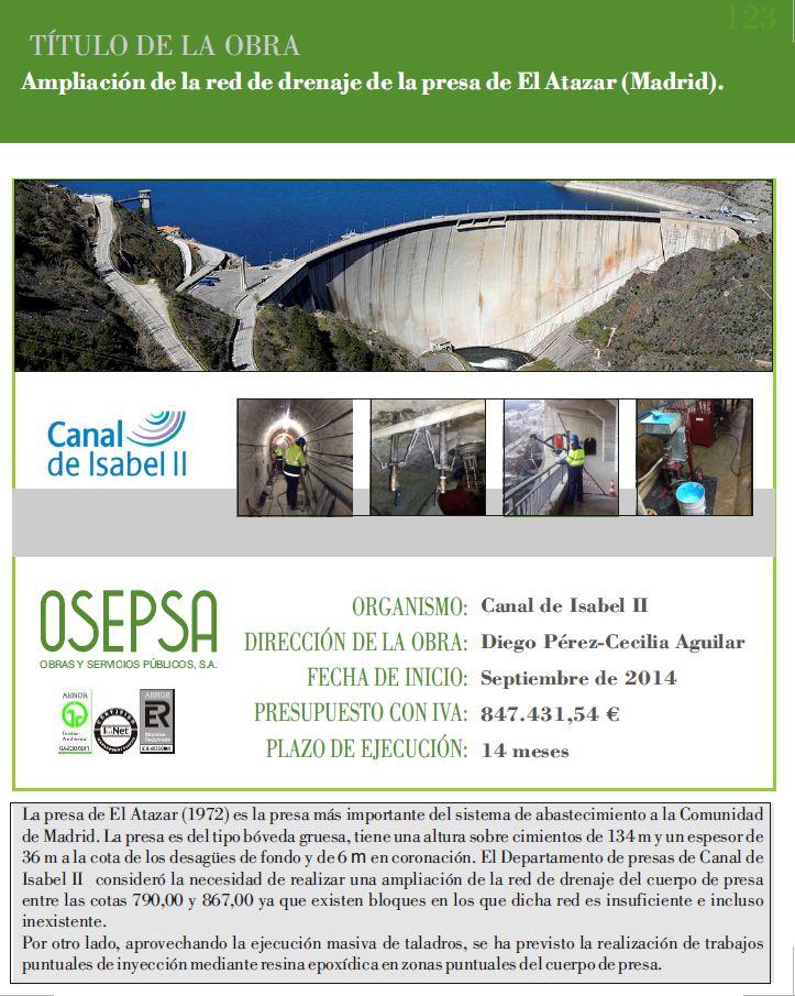 123-Ampliación red drenaje presa El Atazar